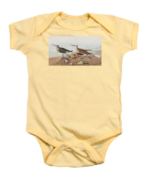 Red Backed Sandpiper Baby Onesie
