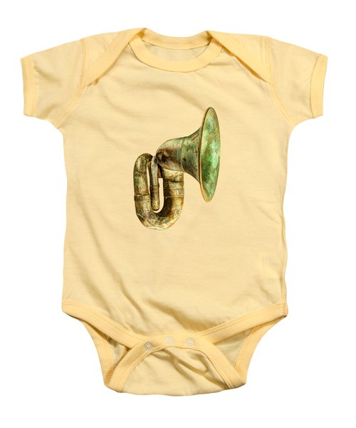 Antique Brass Car Horn Baby Onesie by YoPedro
