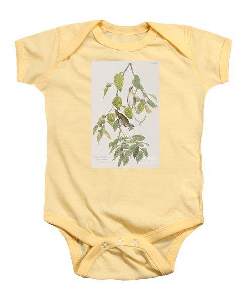 Autumnal Warbler Baby Onesie
