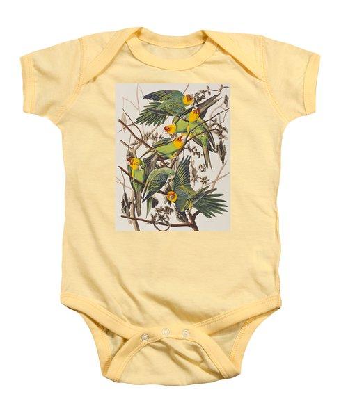 Carolina Parrot Baby Onesie by John James Audubon