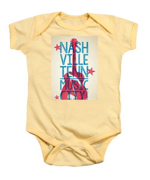 Nashville Tennessee Poster Baby Onesie