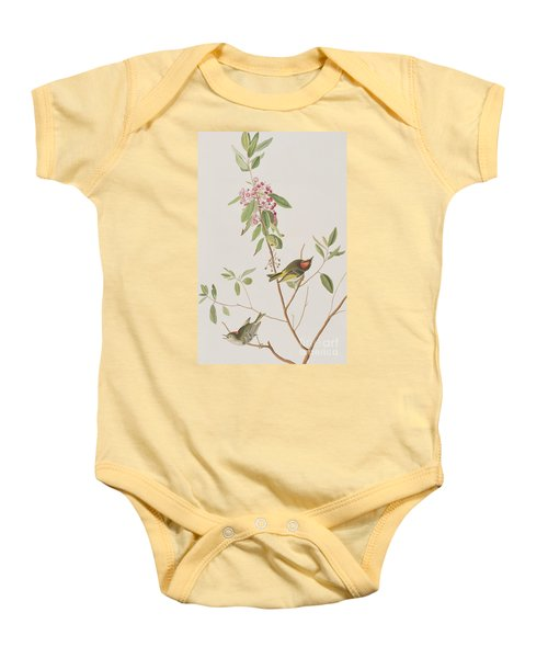 Ruby Crowned Wren Baby Onesie