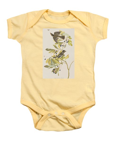 Small Green Crested Flycatcher Baby Onesie by John James Audubon
