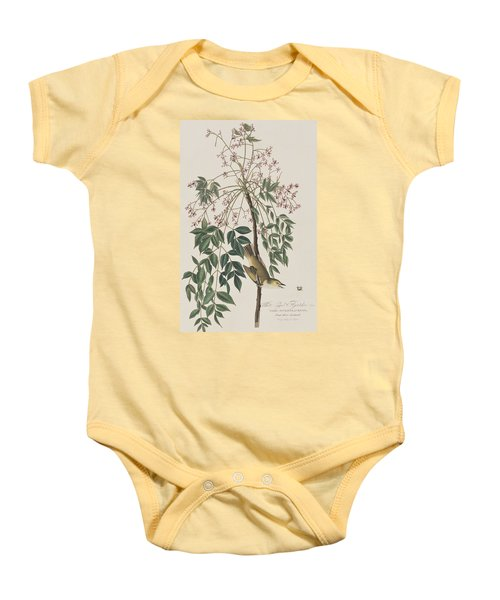 White-eyed Flycatcher Baby Onesie by John James Audubon