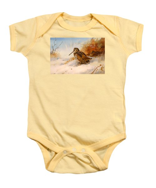 Winter Woodcock Baby Onesie by Mountain Dreams