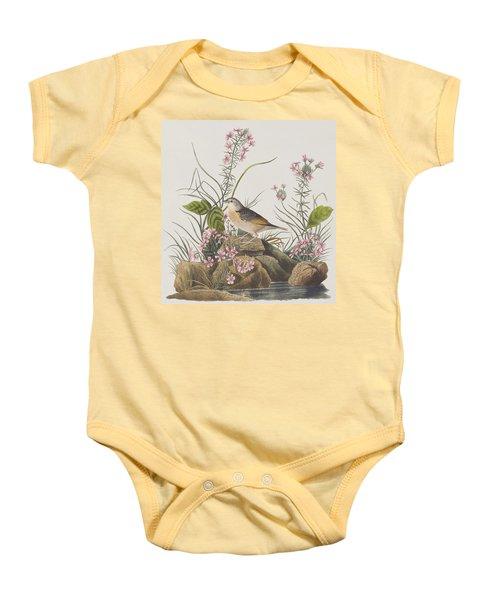 Yellow-winged Sparrow Baby Onesie by John James Audubon