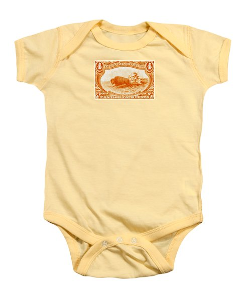 1898 Indian Hunting Buffalo Baby Onesie