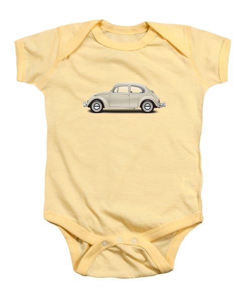 1965 Volkswagen 1200 Deluxe Sedan - Panama Beige Baby Onesie by Ed Jackson
