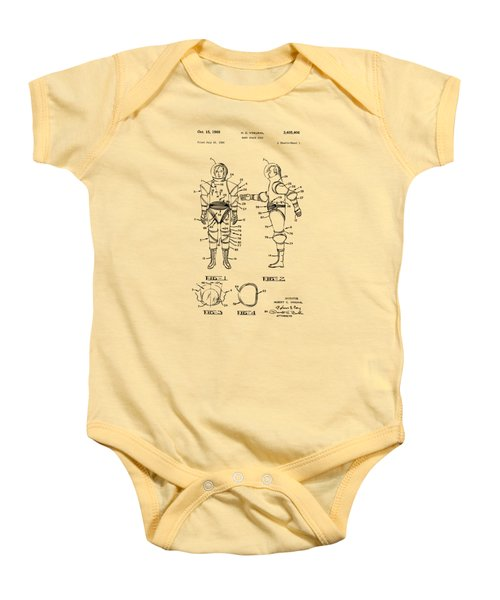 1968 Hard Space Suit Patent Artwork - Vintage Baby Onesie