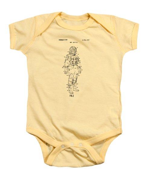 1973 Astronaut Space Suit Patent Artwork - Vintage Baby Onesie