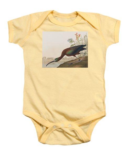 Glossy Ibis Baby Onesie by John James Audubon