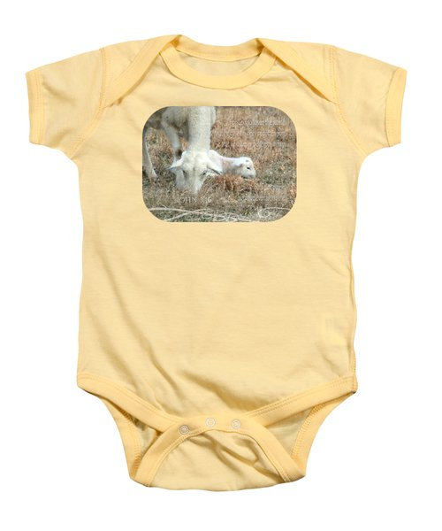L Is For Lamb Baby Onesie
