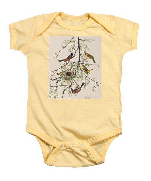 Orchard Oriole Baby Onesie by John James Audubon