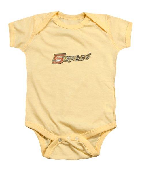 5 Speed Chrome Emblem Baby Onesie