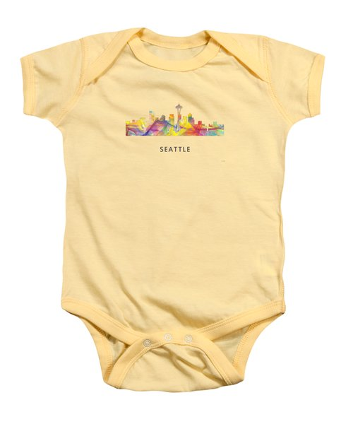 Seattle Washington Skyline Baby Onesie