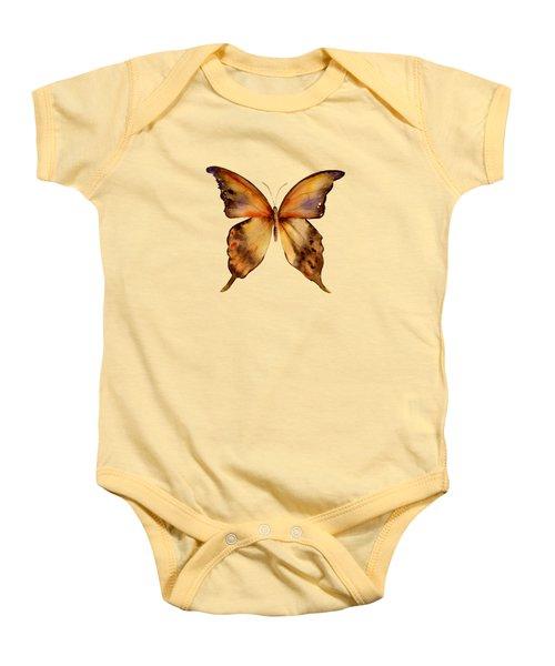 7 Yellow Gorgon Butterfly Baby Onesie by Amy Kirkpatrick