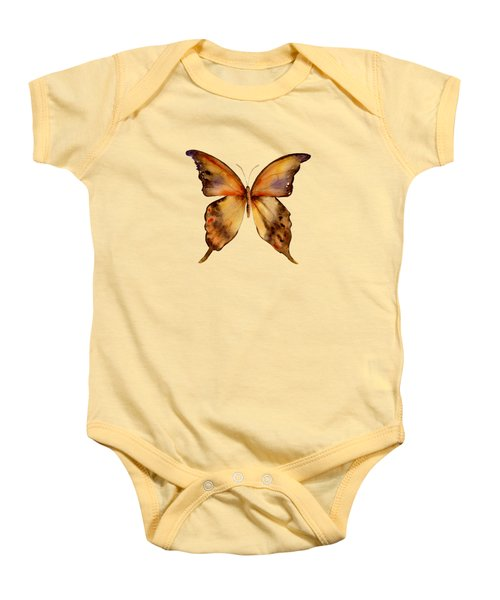 7 Yellow Gorgon Butterfly Baby Onesie