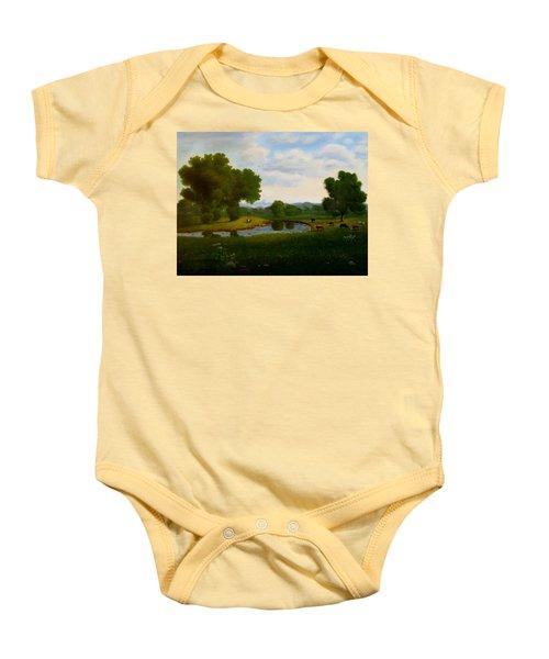 A Pastoral Landscape Baby Onesie