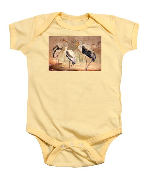 African Tantalus Pseudotantalus Ibis Baby Onesie