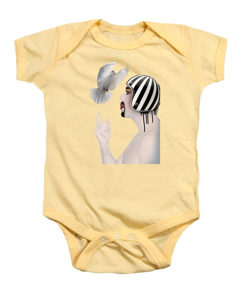 Amir Fun  Baby Onesie by Mark Ashkenazi