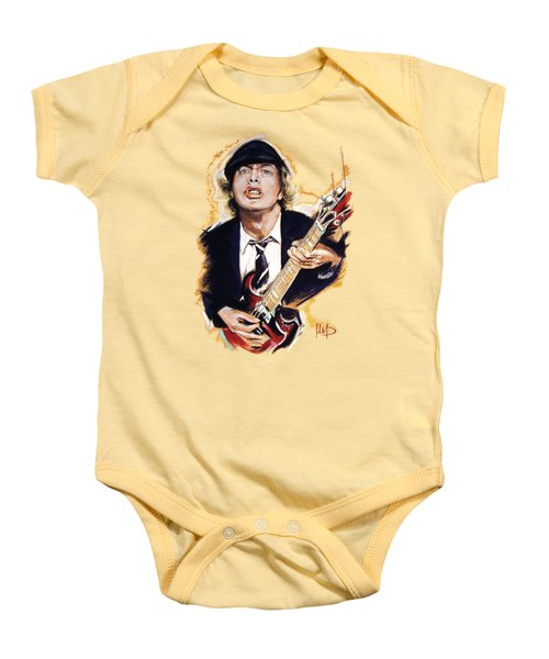 Angus Young Baby Onesie by Melanie D
