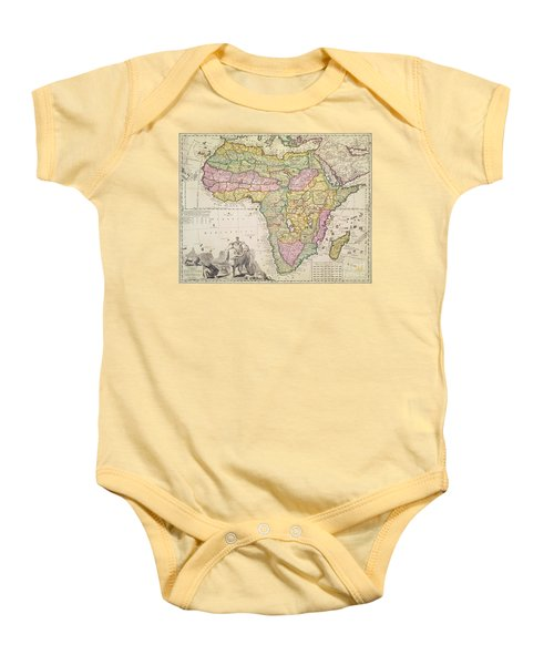 Antique Map Of Africa Baby Onesie