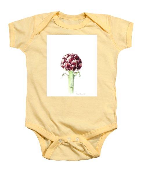 Artichoke From Roman Market Baby Onesie by Alison Cooper
