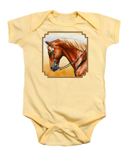 Precision - Horse Painting Baby Onesie by Crista Forest