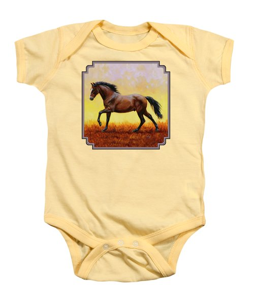 Midnight Sun Baby Onesie