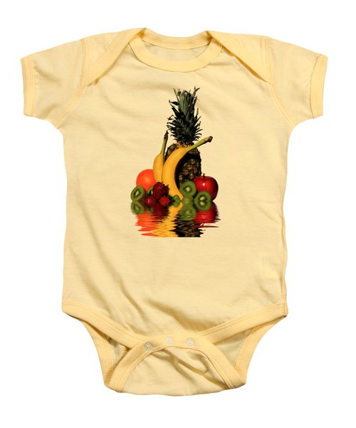 Fruity Reflections - Light Baby Onesie by Shane Bechler