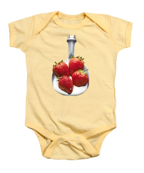 Strawberries N Cream Baby Onesie