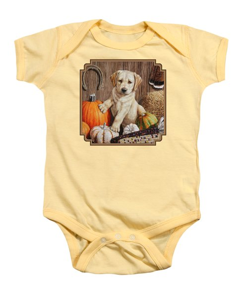 Pumpkin Puppy Baby Onesie by Crista Forest