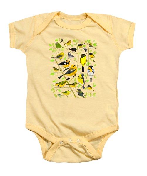 Warblers 1 Baby Onesie by Scott Partridge