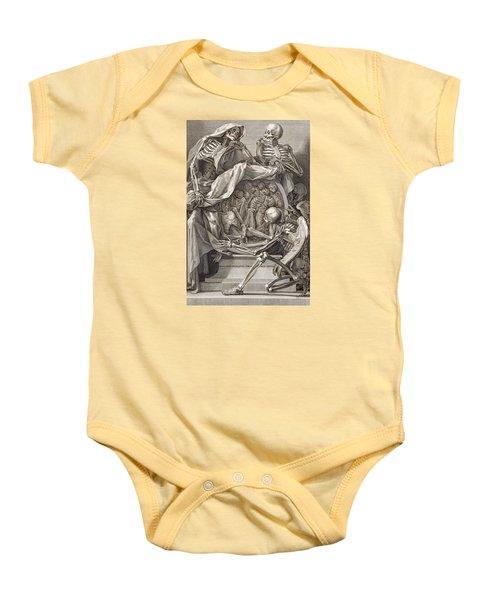 Bernardino Genga - Allegorical Emblems Of Death Baby Onesie