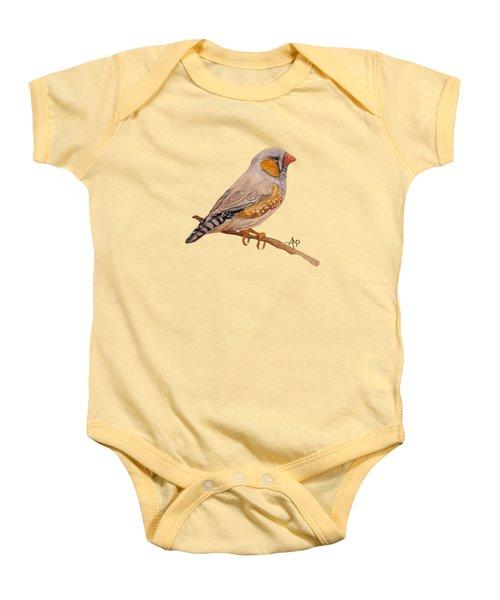 Zebra Finch Baby Onesie