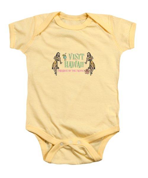 Visit Hawaii Baby Onesie by Little Bunny Sunshine