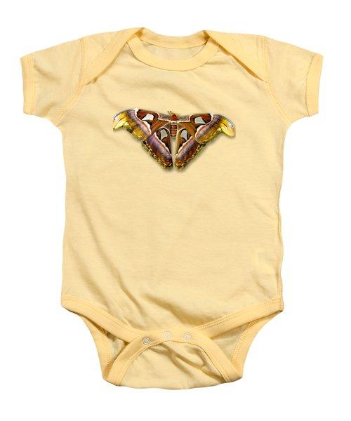 Atlas Moth 2 Sehemu Mbili Unyenyekevu Baby Onesie
