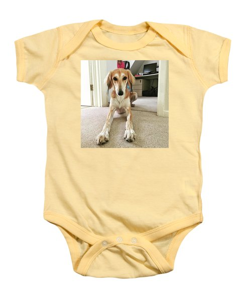Ava On Her First Birthday #saluki Baby Onesie