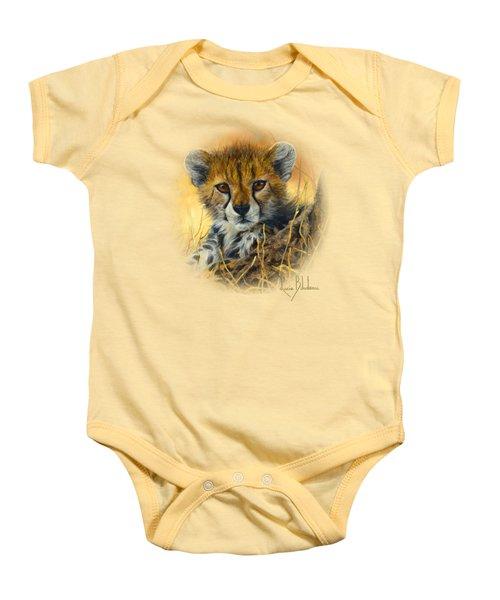 Baby Cheetah  Baby Onesie by Lucie Bilodeau