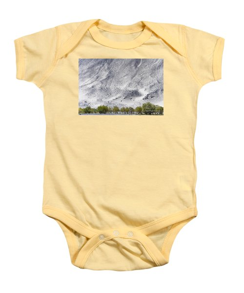 Backdrop Of Sand, Chumathang, 2006 Baby Onesie by Hitendra SINKAR