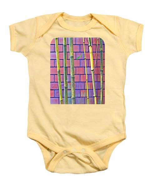 Bamboo And Brick Baby Onesie by Ethna Gillespie