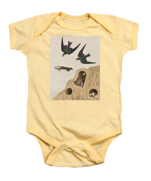 Bank Swallows Baby Onesie by John James Audubon