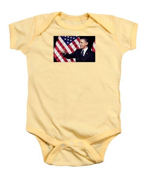 Barack Obama Baby Onesie by Iguanna Espinosa
