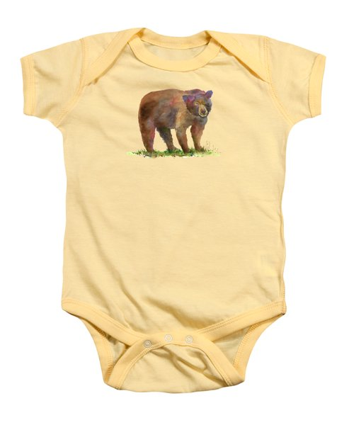 Bear Baby Onesie by Amy Kirkpatrick