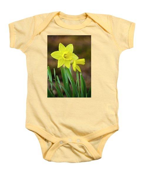 Beautiful Daffodil Flower Baby Onesie