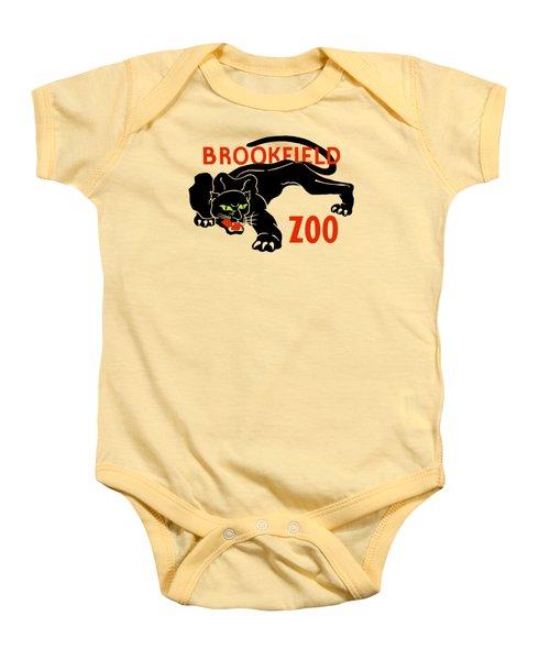 Black Panther Brookfield Zoo Ad Baby Onesie by Heidi De Leeuw