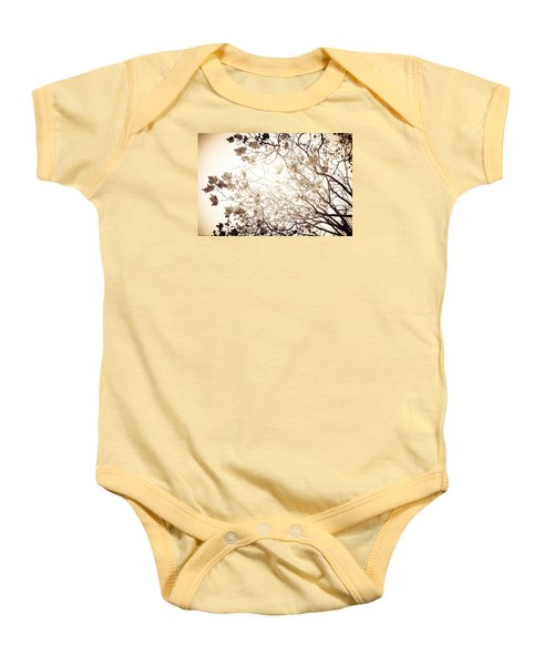 Baby Onesie featuring the photograph Blinding Sun by Lora Lee Chapman