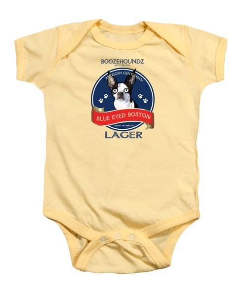 Blue Eyed Boston Lager Baby Onesie