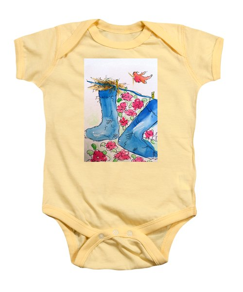 Blue Stockings Baby Onesie