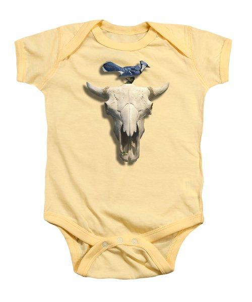 Bluejay And The Buffalo Skull Baby Onesie